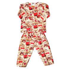 Fio Online - Hoshi -  piyama - Baju Tidur setelan -  motif Bear