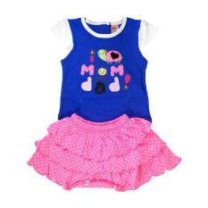 Fio Online Mi Angle Baju dan rok ( Setelan ) bayi perempuan Model Mom And Dad