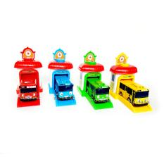 Harga Fio Online Tayo The Little Bus 1 Set 4 Pcs Pull Back Play Set Mainan Anak Mobil Bis Karakter Tayo Rogi Lani Gani Plus Garage Besar Fio Online