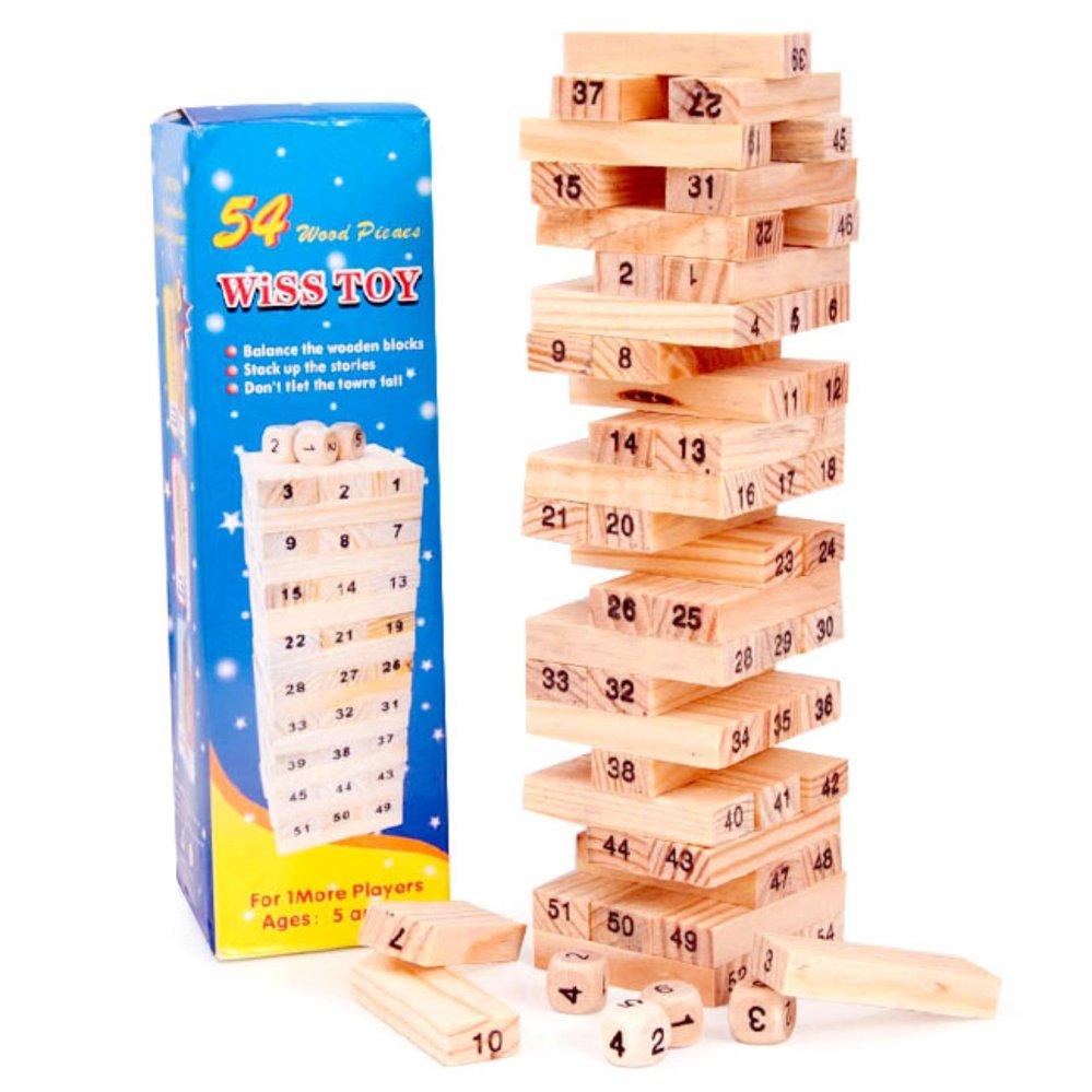 Pencarian Termurah Fio Online Wooden Wiss Toys Stacko Angka 54 Pcs Jenga - Uno Stacko Kayu