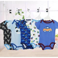 Fiona baju bayi jamper carters lengan pendek 1 pack isi 5 pcs motif cowok