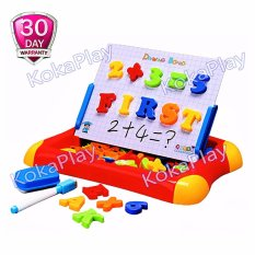 Harga First Classroom Magnetic Doodle Drawing Board Learning Case 2 In 1 Mainan Edukasi Papan Tulis Magnet Angka Huruf Indonesia