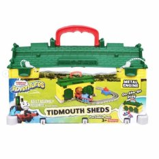 Fisher Price Thomas Adventure Tidmouth Sheds-Fdv71 Portable Set By Tme.