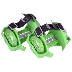 Flashing Roller Skate With 3 Flashing Light Hijau Flashing Roller Diskon 50
