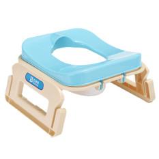 Lipat Plastik Anak Bayi Kursi Anak Kursi Toilet Training Toilet Tutup Yang Dapat Dilepas Biru Muda