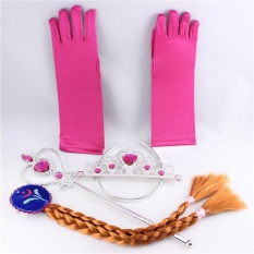 Four Season Big Sale Children Cosplay Princess Dress up Accessories Wand Wig Gloves - intl