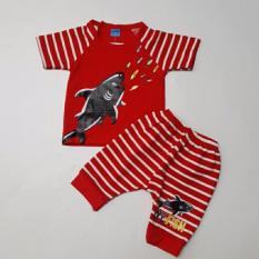 Freeshop Baju Anak Setelan Shark Small Red Set F1055 - 1 Set