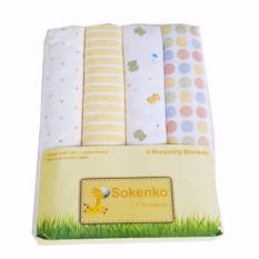 Jual Freeshop Bedong Sokenko Kain Bedong Bayi Yellow S239 1 Pack Isi 4 Pcs Freeshop Murah