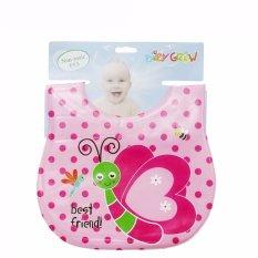 Toko Freeshop Bib Sleber Baby Plastik Best Friend Baby Grow S206 Pink Freeshop