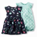 Spesifikasi Freeshop Comfort Twopiece Flower Polkadot Romper Body Suit Jumpsuit For Baby Girls Toddler Kids F1035 Lengkap