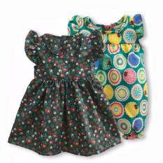 Beli Freeshop Comfort Twopiece Flowers Romper Body Suit Jumpsuit For Baby Girls Toddler Kids F1035 Cicilan