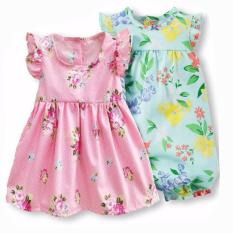 Toko Freeshop Comfort Twopiece Rose Flowers Romper Body Suit Jumpsuit For Baby Girls Toddler Kids F1035 Termurah