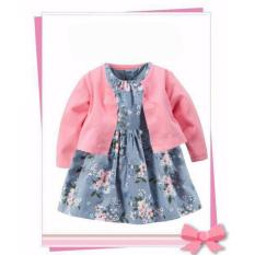 Diskon Freeshop Fashion Lovely Baby Floral Dress Suit With Cardigan Red F1036 Freeshop