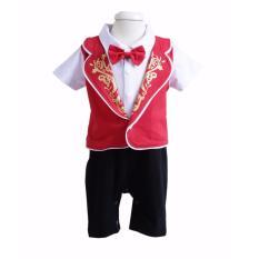 Freeshop Baju Imlek Hokky Boy - Baju Imlek Bayi Bayi Balita Anak Baju Setelan Imlek Bayi Balita Anak Kostum Imlek Bayi Balita Anak Setelan Baju Keren Untuk Perayaan Imlek Bayi Balita Anak - Hokky Boy  F1002 - Red