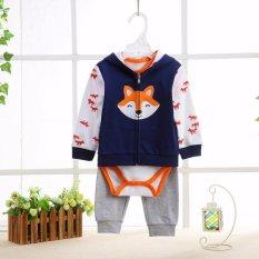 Pusat Jual Beli Freeshop Jumper Baby Set 3 Pcs Jacket Wolf Pakaian Bayi Laki Laki F1041J Dki Jakarta