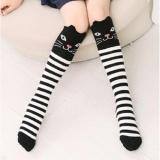 Beli Freeshop Kaos Kaki Lutut Anak Perempuan Cat Stripe 3 5Thn Kode S267 Black Freeshop