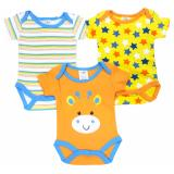 Jual Freeshop Kids Infant Baby Cotton Sleeveless Suit Romper Jumper Jumpsuit 3 Pcs Cow Blue Freeshop Asli