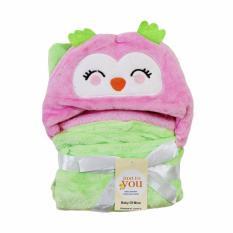 Spesifikasi Freeshop Selimut Bayi Selimut Topi Double Fleece Selimut Hoodie Owl Bulu Bayi 3D Hoodie Blanket Tudung Selimut Anak S254 Merk Freeshop