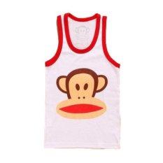 Jual Freeshop Singlet Anak Laki Laki Karakter Animal Monkey White Lengkap