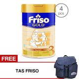 Jual Friso 3 Gold Susu Pertumbuhan 900Gr Tin Bundle 4 Kaleng Free Tas Friso Branded