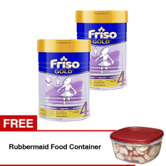 Friso 4 Gold Susu Pertumbuhan 900Gr Tin Bundle 2 Kaleng Free Rubbermaid Food Container Friso Diskon 40