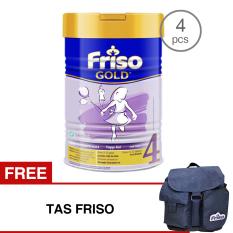 Jual Friso 4 Gold Susu Pertumbuhan 900Gr Tin Bundle 4 Kaleng Free Tas Friso Ori