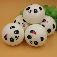 FS Besar Penjualan 4 Inch Kawaii Panda Putih Liontin Lucu Panda Bread Gantungan Jatuh Seluler Rantai Magnet Kulkas