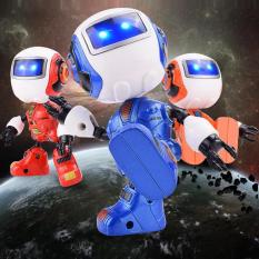 Spesifikasi Fs Big Sale Cute Alloy Manual Deformation Robot With Sound Lights Touch Induction Toys For Kids Bagus