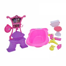 FS Big Sale Dolls Accessories Pretend Play Furniture Set Toys for Barbie Dolls as Xmas Gifts for Kids Style:kitchen - intl