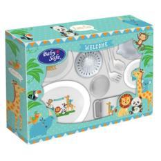FS101 Baby safe Large 11 pcs Feeding Set / Gift set / Perlengkapan Makan Minum MPASI Bayi