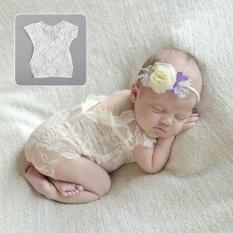 Fullmoon Bayi Bayi Perempuan Ikatan Simpul Renda Baju Pakaian Bodysuit Foto Alat Peraga-Internasional