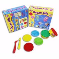 Fun Doh Playdoh Lilin Mainan Dan Cetakan - Ocean Life / Seri Hewan Laut