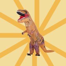 Lucu Dewasa Inflatable Dinosaur Trex Costume Suit Air Fan Dioperasikan Blow Up Halloween Cosplay Fancy Dress Kostum Hewan Jumpsuit- INTL