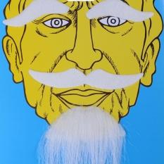 Lucu Kostum Pesta Halloween Beard Wajah Rambut Disguise Hitam Kumis Pesta Dekorasi Putih-Internasional