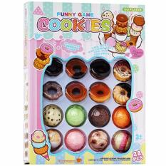 Funny Game Cookies 22 Pcs - Mainan Bentuk Donat Dan Ice Cream