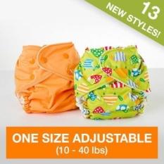 FuzziBunz Adjustable First Year Pocket Diaper - Panache Pink - M/L/Xl - Snap - intl