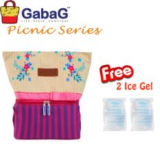Jual Gabag Cooler Bag Big Picnic Series Joanna Free 2 Ice Gel Gabag Murah