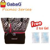 Harga Gabag Cooler Bag Big Picnic Series New Zebra Free 2 Ice Gel Asli Gabag