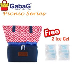 Jual Beli Gabag Cooler Bag Big Picnic Series Ulos Free 2 Ice Gel