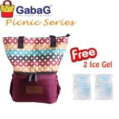 Gabag cooler bag coolerbag Maroon  -   tas penyimpan asi - asip - thermal bag - tas bayi