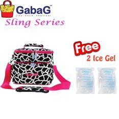 Obral Gabag Cooler Bag Sling Series Big Milky Free 2 Ice Gel Murah