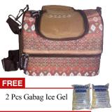 Spesifikasi Gabag Cooler Bag Starter Kit Ethnic Borneo Tas Penyimpan Asi Dengan Ice Gel Cokelat Gratis Ice Gel 2 Pcs Online