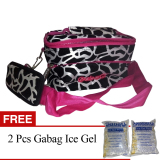Gabag Cooler Bag Starter Kit Milky Cow Tas Penyimpan Asi Dengan Ice Gel Pink Gratis Ice Gel 2 Pcs Gabag Diskon 40