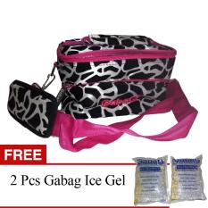 Jual Gabag Cooler Bag Starter Kit Milky Cow Tas Penyimpan Asi Dengan Ice Gel Pink Gratis Ice Gel 2 Pcs Murah Di Bali