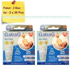 Jual Gabag Kantong Asi Bpa Free 100Ml Breastmilk Storage Bag Newborn Paket 2 Box Biru Gabag Murah