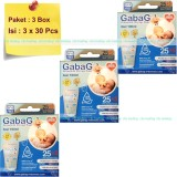 Gabag Kantong Asi Bpa Free 100Ml Breastmilk Storage Bag Newborn Paket 3 Box Biru Asli