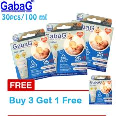Gabag New Breast Milk Storage Kantong Asi 100 Ml Isi 30 Pcs Biru Beli 3 Gratis 1 Promo Beli 1 Gratis 1