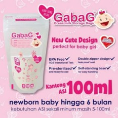GABAG Plastik ASI 100ml - Breastmilk Storage Bag - Kantong Asi - Kantung Asi - pink