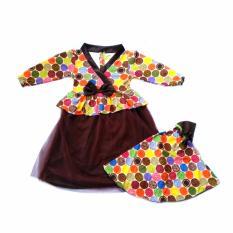 Gamis Korean Polka - Dress Muslim Ala Korea Untuk Bayi dan Anak Dress Bayi Dress Muslim Dress Anak Baju Muslim Gamis Bayi Baju Pesta Untuk Bayi dan Anak