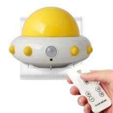 Garment Anak-anak Cahaya Malam Kecil dengan Timer Plug In Wall Night LampFor Anak-anak. Remote Control untuk 3 Mode Pencahayaan. 5 Gelar Terang. Waktu 10/30 Min (Kuning)-Intl